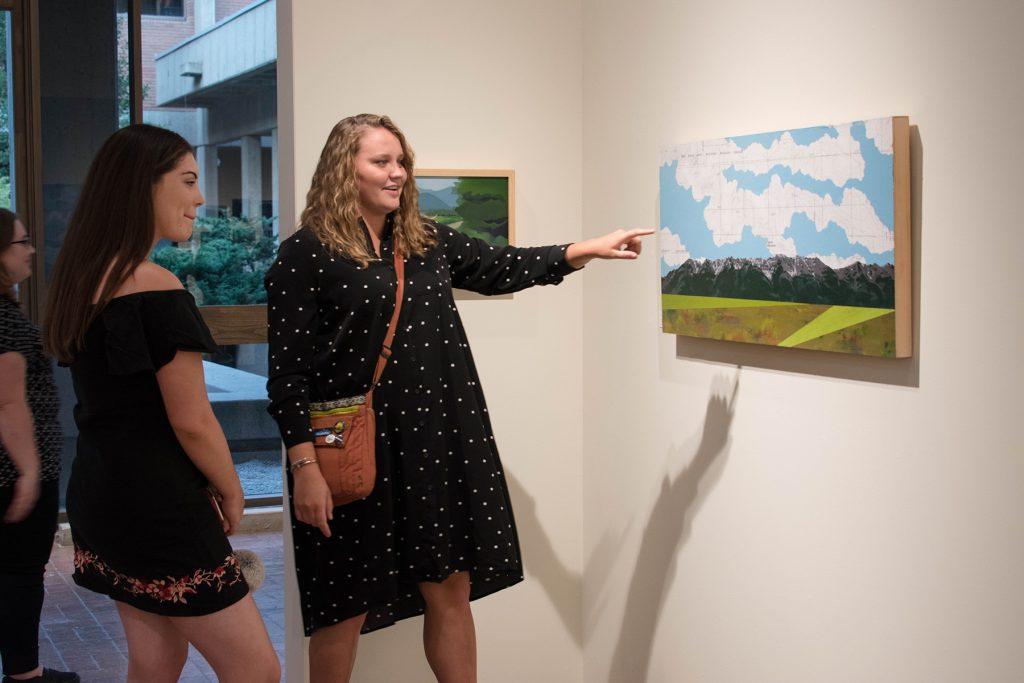Open Sky: Taft-Nicholson Residency Exhibition, Gittins Gallery, September 2017; artwork: Sarah Peterson