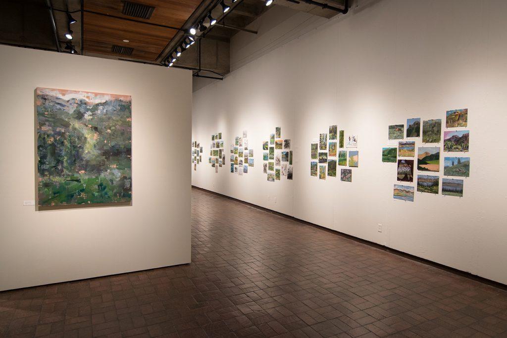 Open Sky: Taft-Nicholson Residency Exhibition, Gittins Gallery, September 2017; artwork: Mitchell Lee (left foreground)