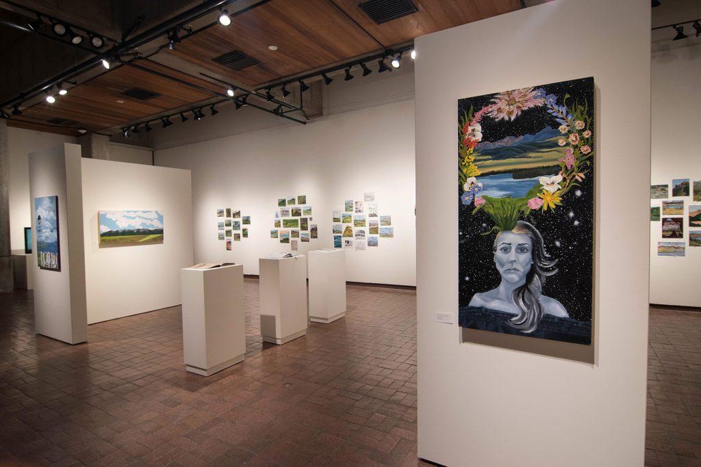 Open Sky: Taft-Nicholson Residency Exhibition, Gittins Gallery, September 2017; artwork: Briana McLaren (foreground)