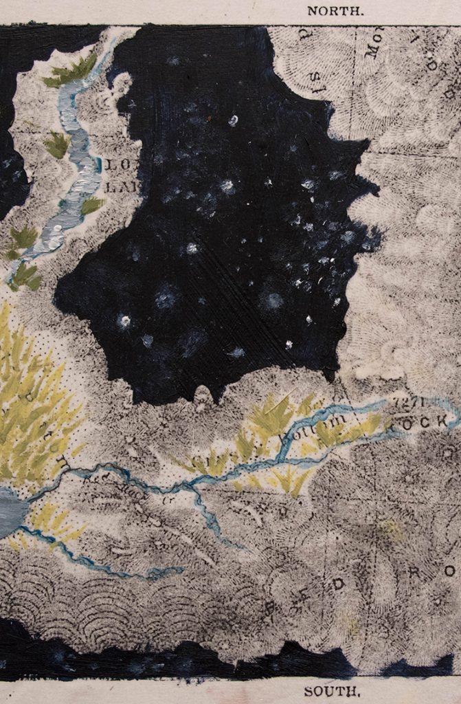 Open Sky: Taft-Nicholson Residency Exhibition, Gittins Gallery, September 2017; artwork: Briana McLaren (detail)