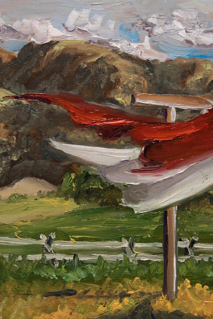 Open Sky: Taft-Nicholson Residency Exhibition, Gittins Gallery, September 2017; artwork: Eva Holbrook (detail)