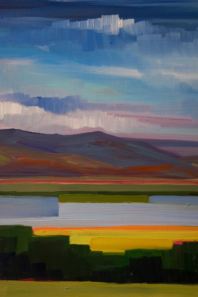 Open Sky: Taft-Nicholson Residency Exhibition, Gittins Gallery, September 2017; artwork: Morgan Casteel (detail)