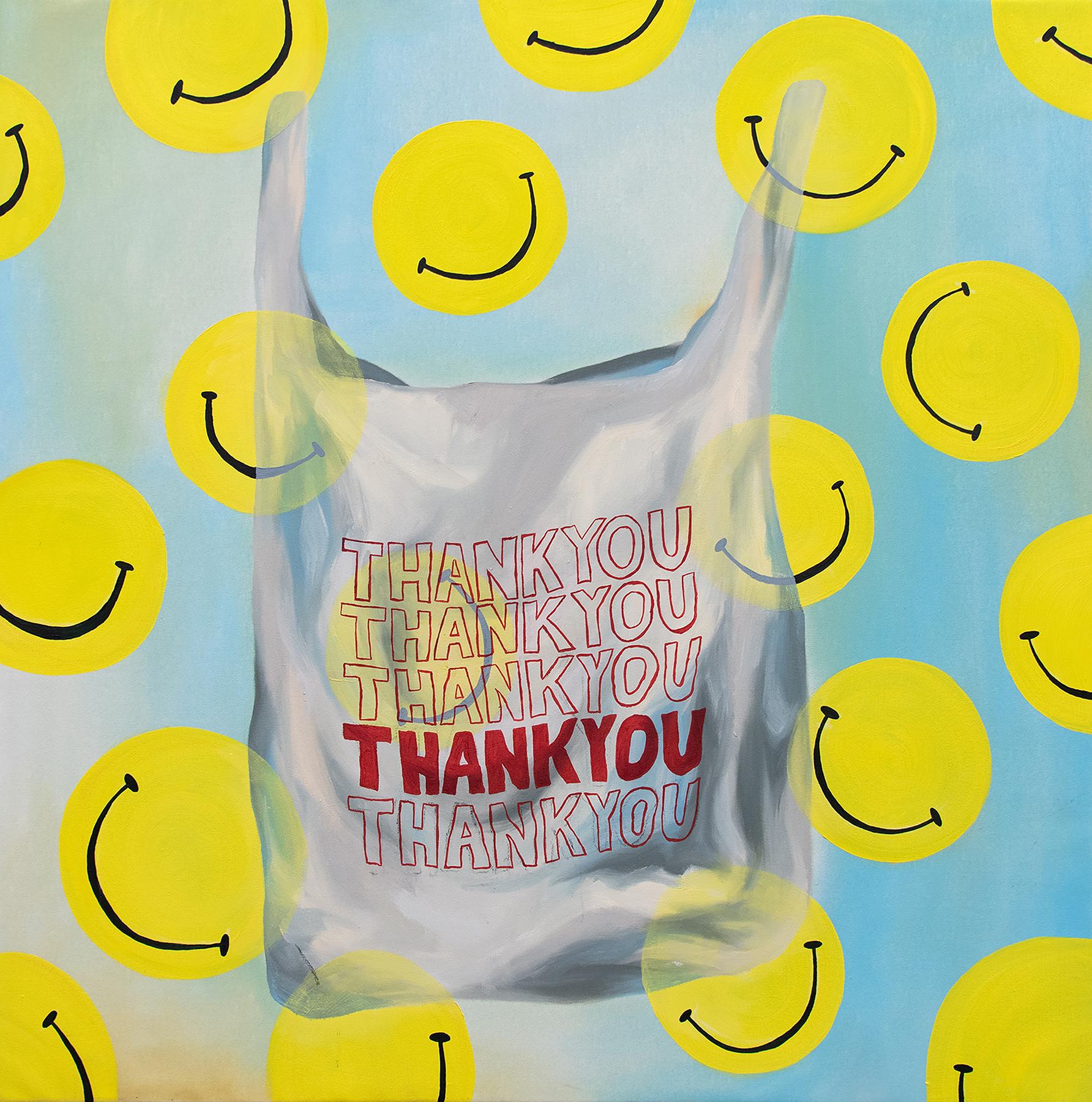 "Thank you - Kendyl Schofield, oil on canvas, 36 x 36"""
