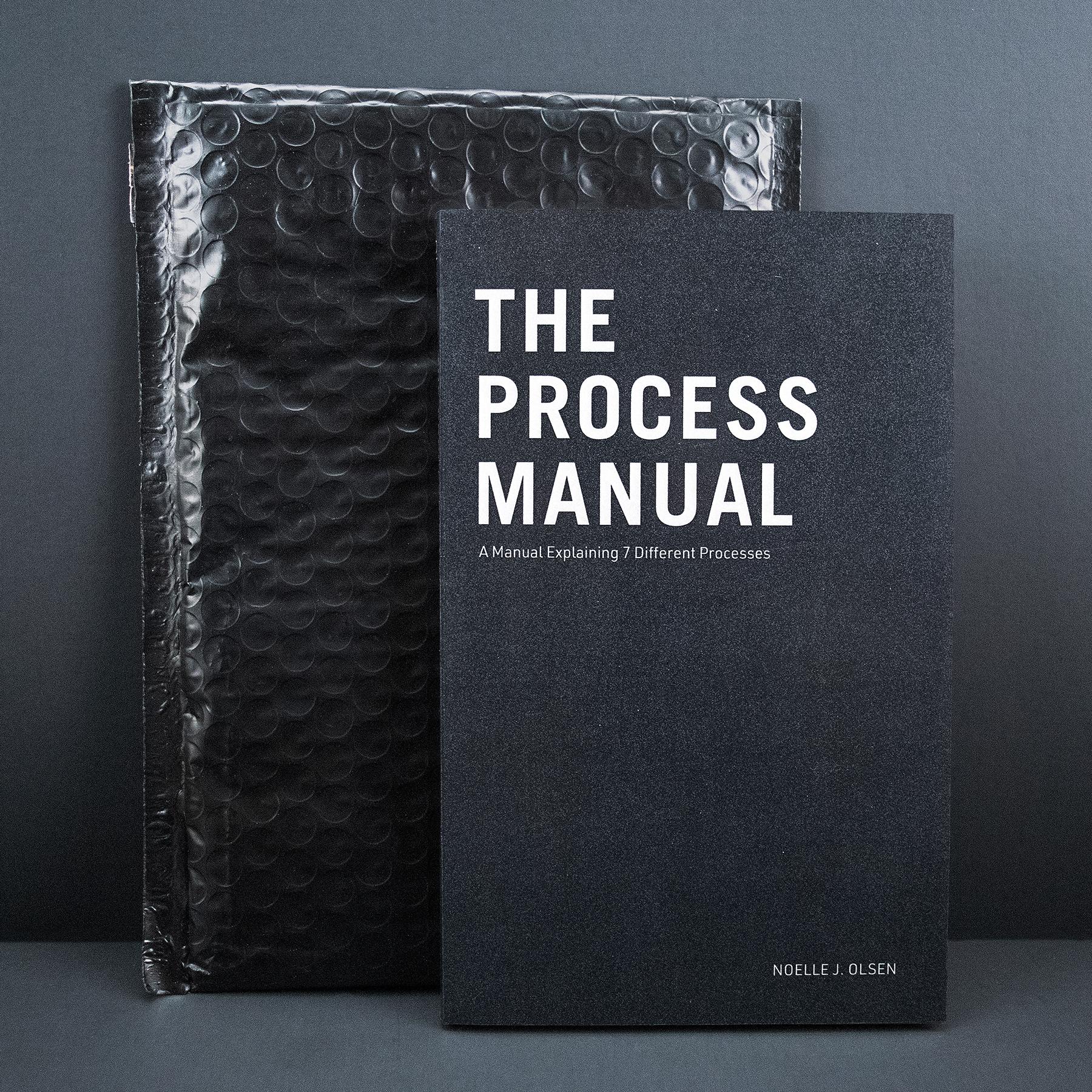 "The Process Manual: A Manuel Explaining 7 Different Processes, Noelle Olsen, 2019, screen print / laser print, 5 x 8"""