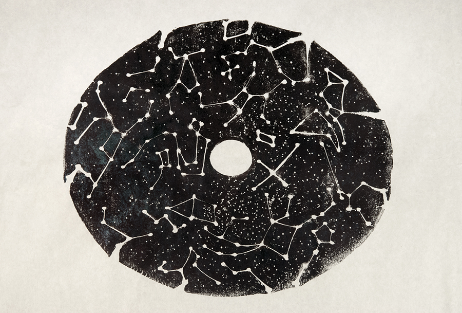 Token for an Ever-Expanding Universe, 2014, print from a clay plate