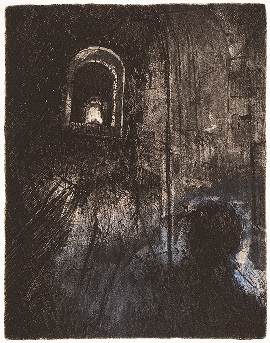 A Forgotten Site. Etching. 2008.