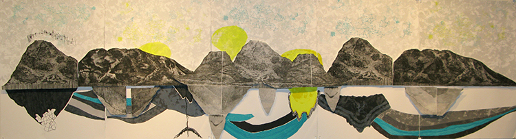 Advanced Print. Allison Cornu. Screenprint & Etching.2009.