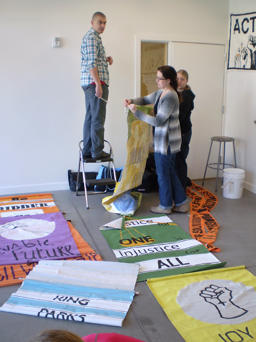 Cori Redstone Protest Art, for Andrea Bowers, Warnock Artist in Residence 2012