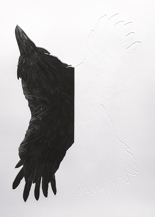 L WING. Etching & Embossing. 2011.