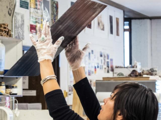 Lesley Dill Printmaking Workshop