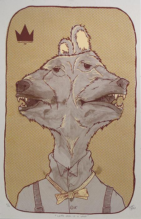 Advanced Print. Evan Memmott. Screenprint. 2012.