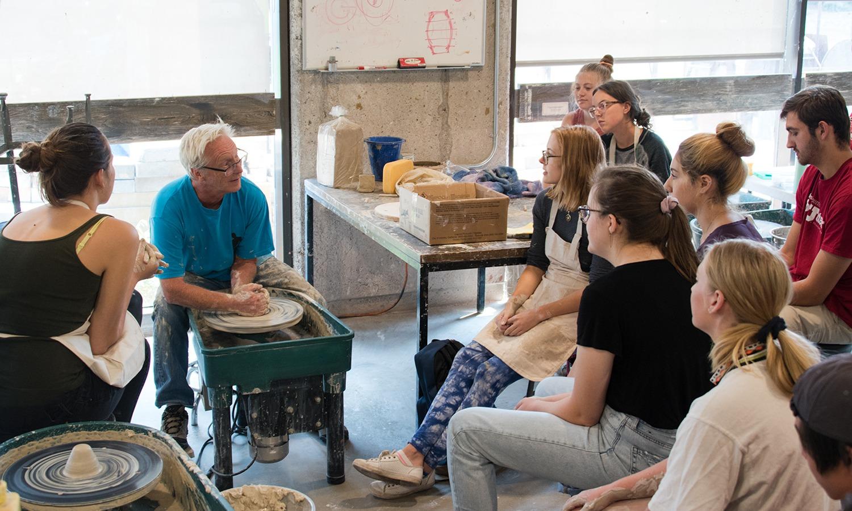 Professor Brian Snapp Demos in Ceramics