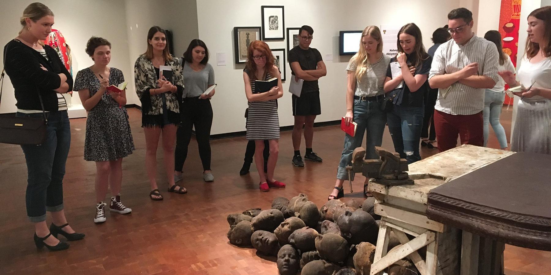 Art History class touring museum