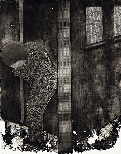 Andrew Rice. Print Student. Inaccessibility-Warming I. Etching. 2011.