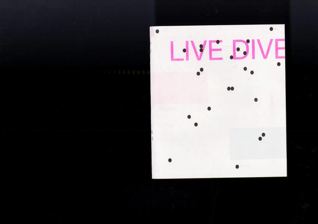 Live Dive, Ruby Barrett, 2020, Risograph / Saddle Stitch
