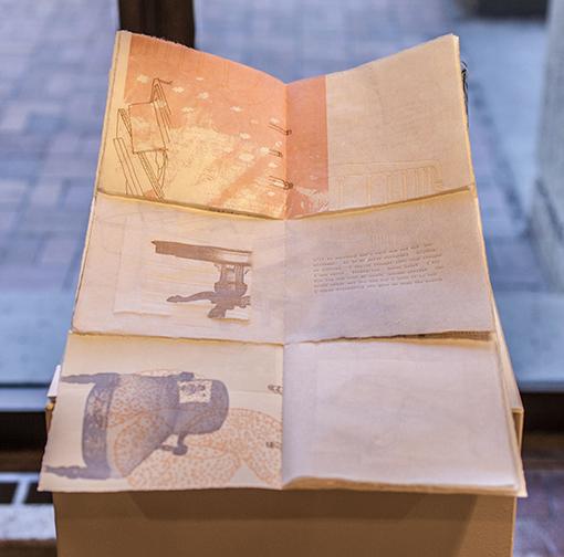 Meredith Hendricks. Print Student. Recollect. Etching & Letterpress. 2012.