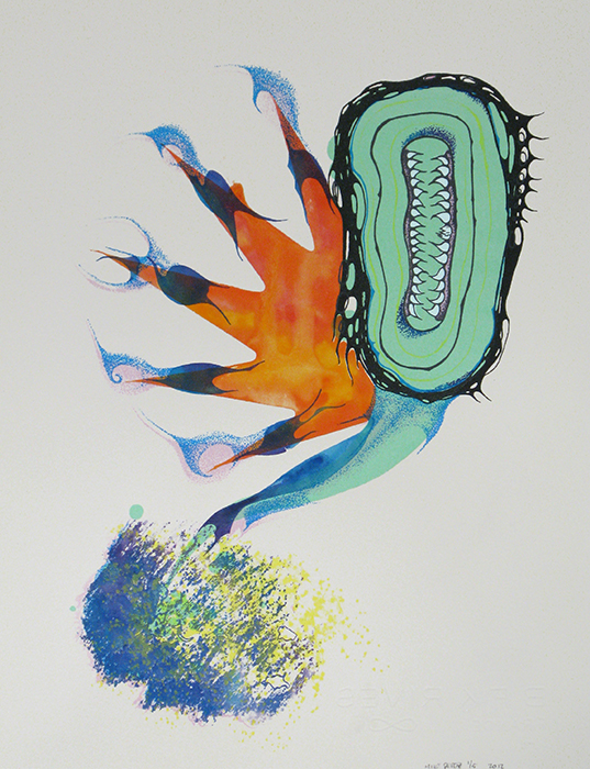 Advanced Print. Michael Peraz. Screenprint. 2012.