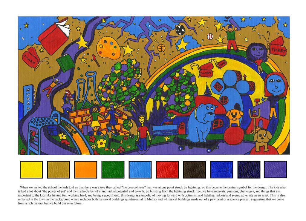 Grant Elementary mural design
