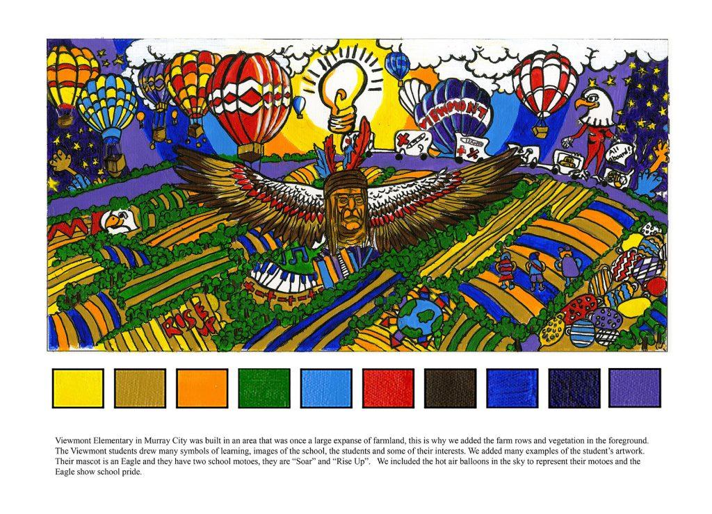 Viewmont Elementary mural design