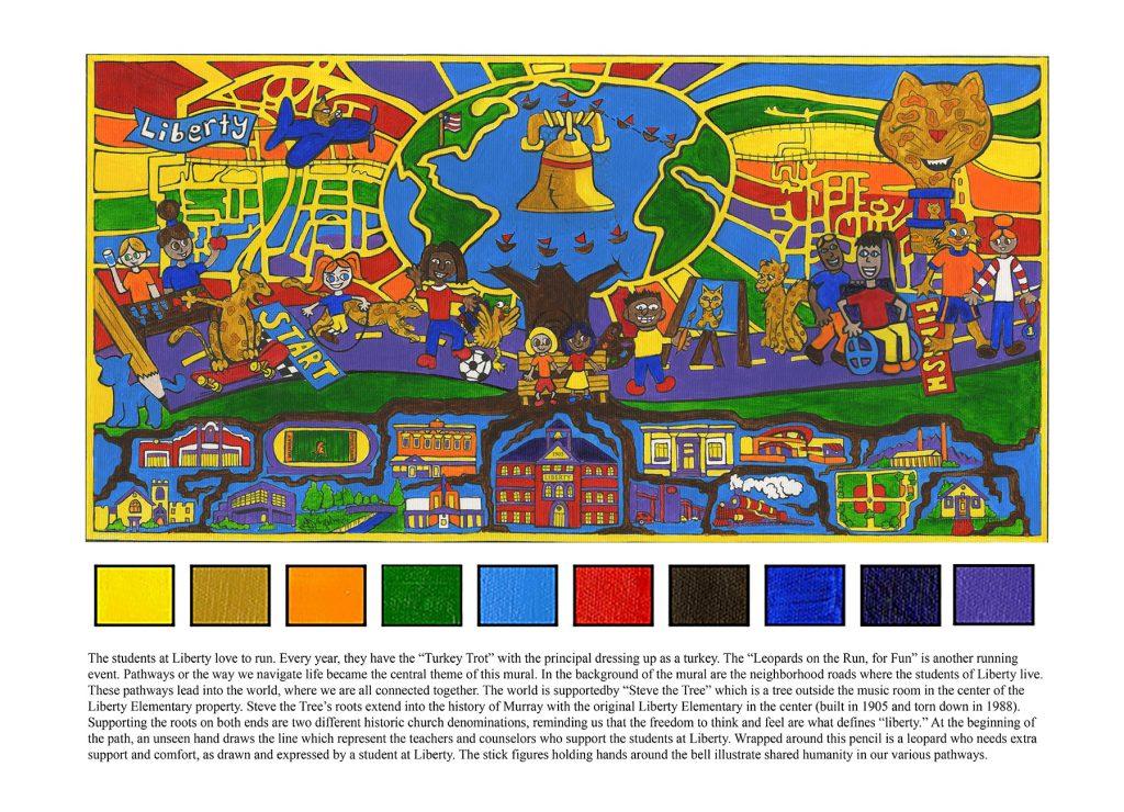 Liberty Elementary mural design