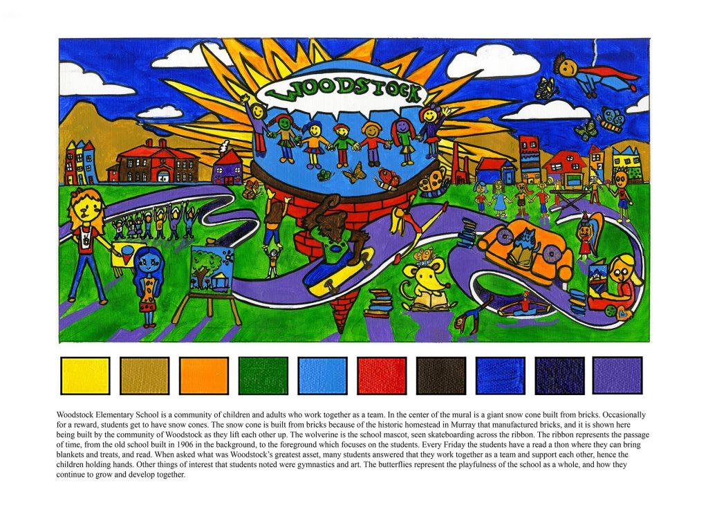 Woodstock Elementary mural design