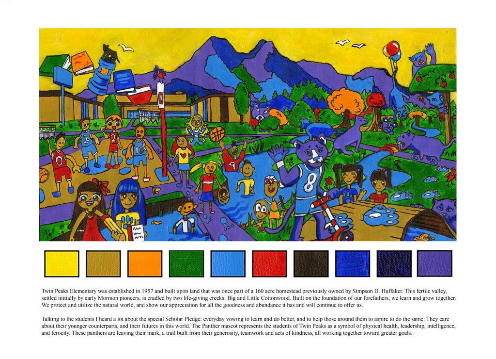 Twin Peaks Elementary mural design