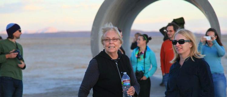 Nancy Holt at Sun Tunnels