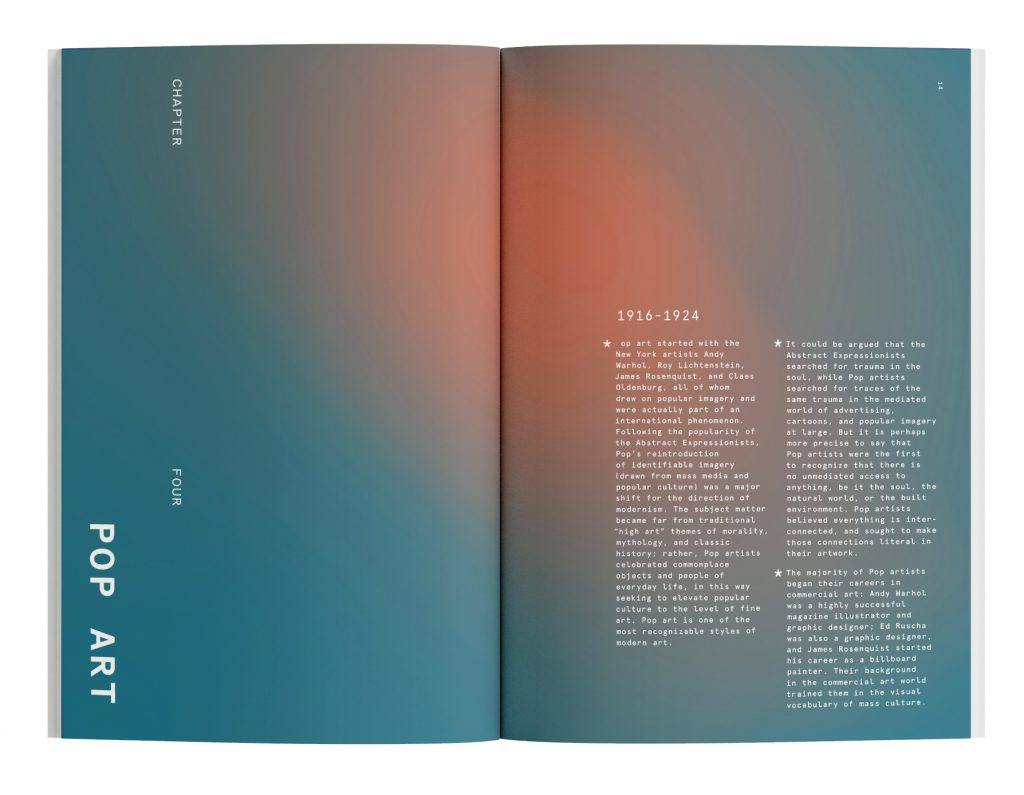 Modern Art Book, Jesse Smith, 2020, Book Design