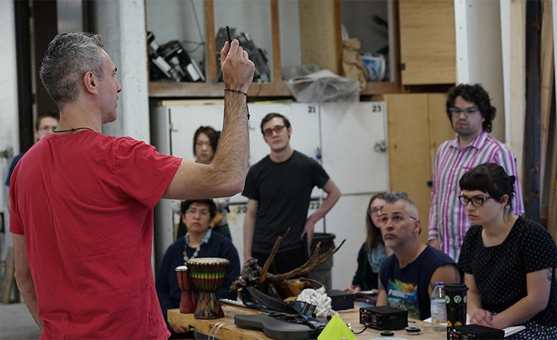 Sound workshop with artist Richard Garet