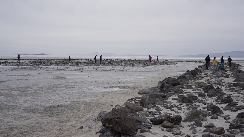 Sculpture I at Spiral Jetty Spring 2015