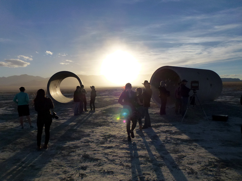 Sculpture Club at Sun Tunnels with Nancy Holt