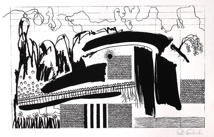 Thomi Liebich. Painting Student. Screenprint.