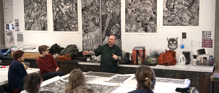 Tom Huck in Printmaking
