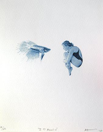 UofU Mini Print, cyanotype