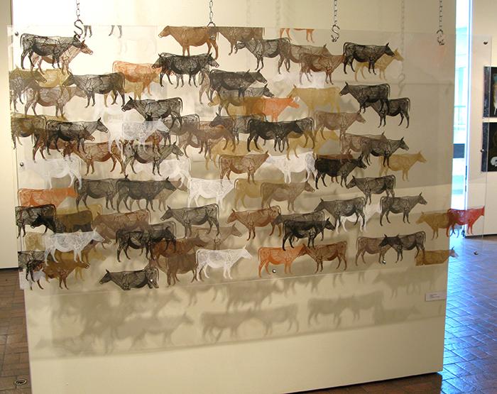 Advanced Print. Valerie Huitzil. Screenprint on Plexi. 2009.